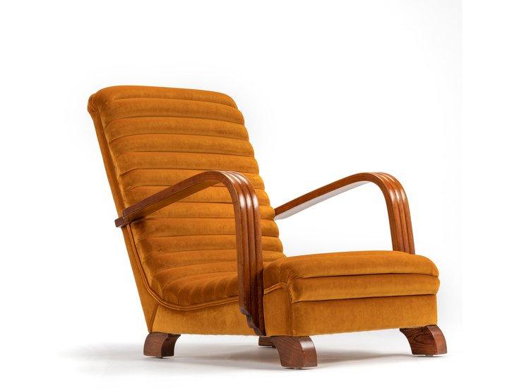 The streamline moderne deco club lounge chairs.  rhubarbchairs treniq 1 1558435317792