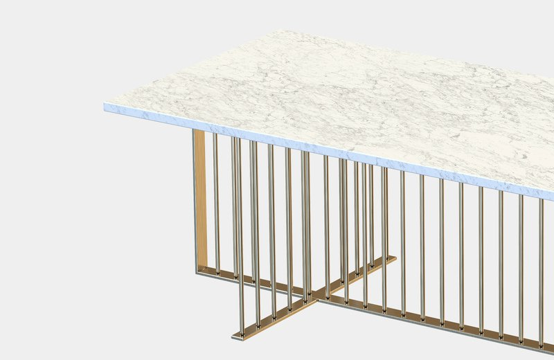 Meister marble rectangular center coffee table miist treniq 6 1558626372168