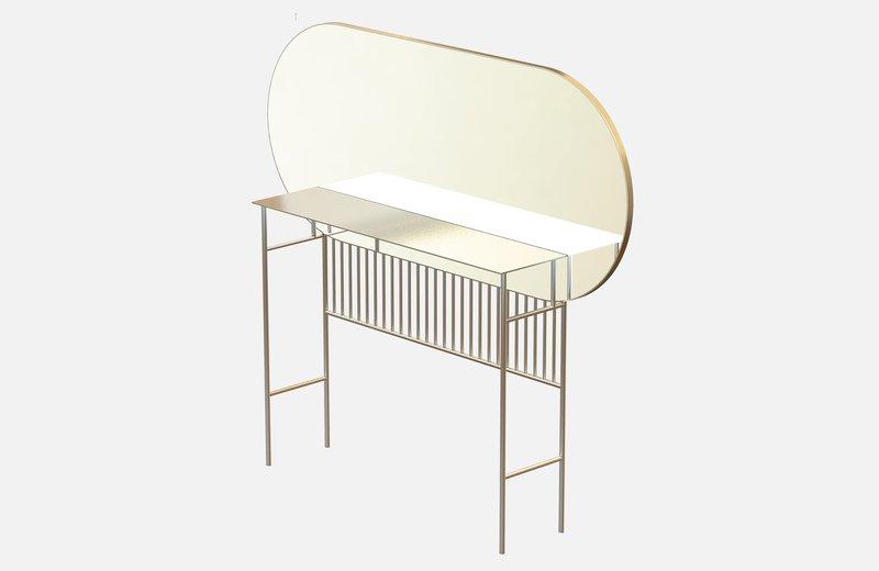 Naive mirror console in brass miist treniq 1 1558779019813