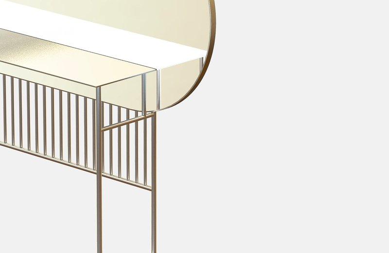 Naive mirror console in brass miist treniq 1 1558779019815