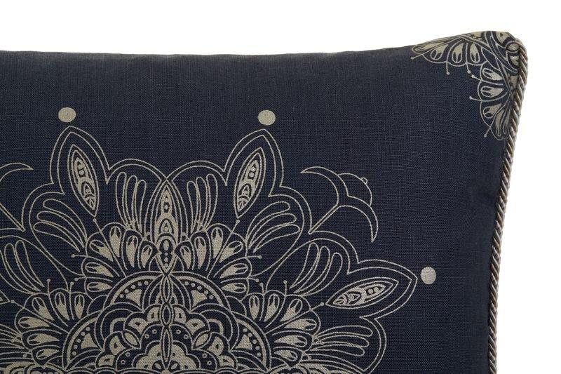 Venezia metallics silver on blue piped cushion  ailanto design by amanda ferragamo treniq 1 1558917666472