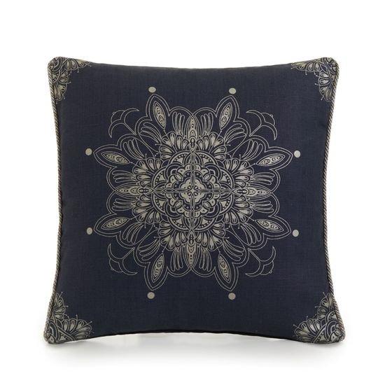 Venezia metallics silver on blue piped cushion  ailanto design by amanda ferragamo treniq 1 1558917666471