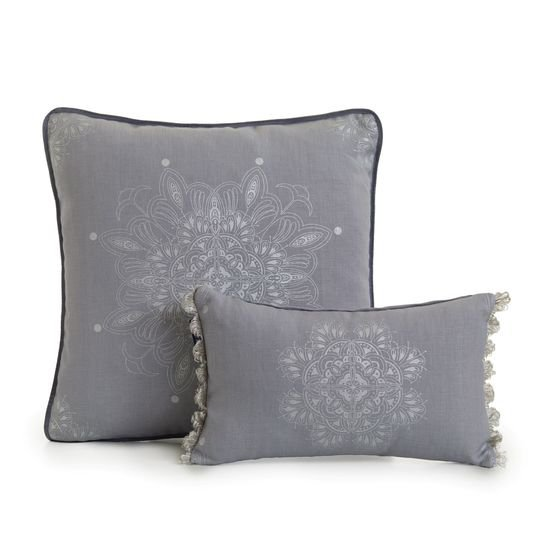 Venezia metallics silver on grey fringed cushion ailanto design by amanda ferragamo treniq 1 1558918952039