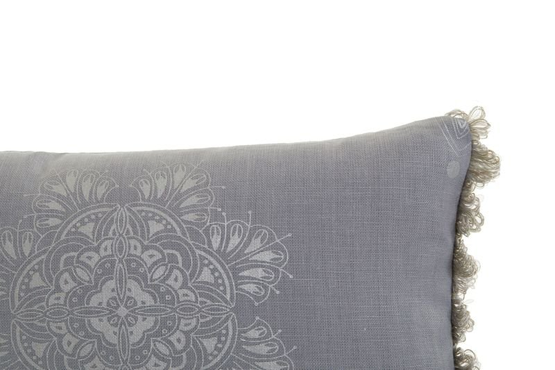 Venezia metallics silver on grey fringed cushion ailanto design by amanda ferragamo treniq 1 1558918952038