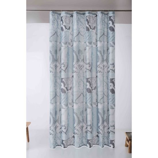 Patchwork shower curtain mood