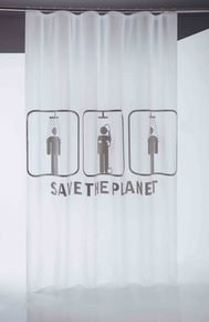 Save The Planet Shower Curtain 180X200Cm