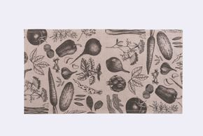 Vegetables Kitchen Rug 55X150 Cm