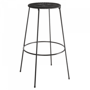 Acapulco Bar Stool High Black