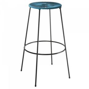 Acapulco Bar Stool High Blue