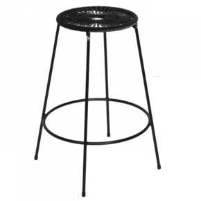 Acapulco Bar Stool Medium Black
