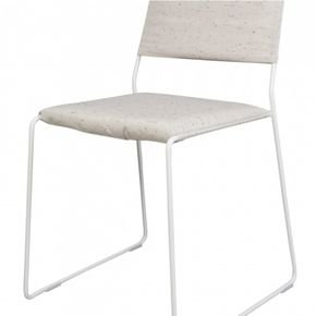 One Wire Chair White Frame - Melange Cushion