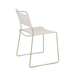 One Wire Chair Green Frame - Melange Cushion