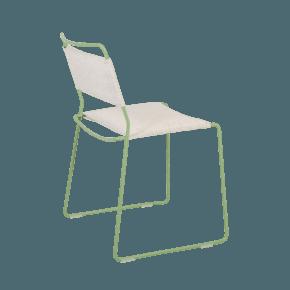 One Wire Chair Green Frame - Melange Cushion