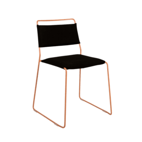 One Wire Chair Peach Frame - Black Frame