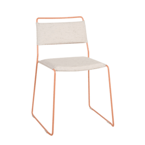 One Wire Chair Peach Frame - Melange Cushion