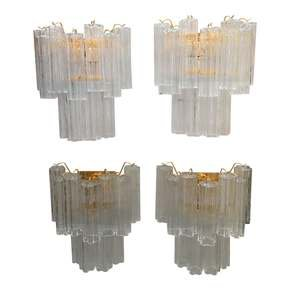 "2-Tier-24k-Gold-And-Clear-Murano-Glass-""Tronchi""-Wall-Sconces-Set-Of-42-T_Il-Paralume-Marina_Treniq_0"