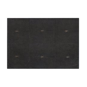 Serving Mat / Grand Placemat Faux Shagreen Chocolate
