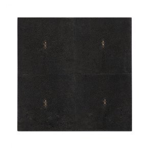 Placemat Faux Shagreen Chocolate