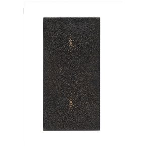 Double Coaster Faux Shagreen Chocolate