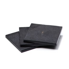 Coaster Faux Shagreen Chocolate