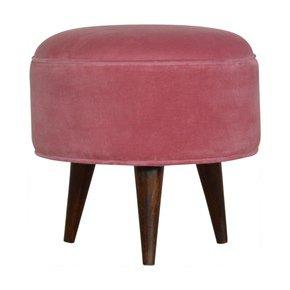 In822-Pink-Velvet-Nordic-Style-Footstool-_Artisan-Furniture_Treniq_0