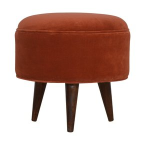 In820-Brick-Red-Velvet-Nordic-Style-Footstool-_Artisan-Furniture_Treniq_0