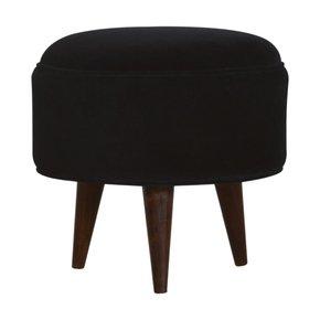 In819-Black-Velvet-Nordic-Style-Footstool-_Artisan-Furniture_Treniq_0