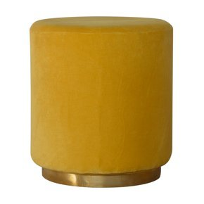 In818-Mustard-Velvet-Footstool-With-Gold-Base-_Artisan-Furniture_Treniq_0
