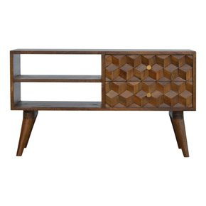 In782-Chestnut-Cube-Carved-Media-With-2-Open-Slots_Artisan-Furniture_Treniq_0