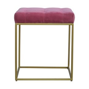 In462-Pink-Velvet-Footstool-With-Deep-Buttons-And-Gold-Base_Artisan-Furniture_Treniq_0