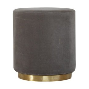 In427-Round-Grey-Velvet-Footstool-With-Gold-Base_Artisan-Furniture_Treniq_0