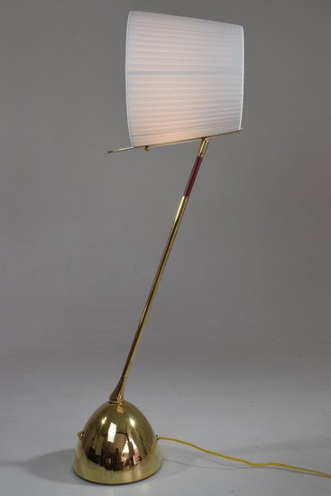 Infinitus vii tall contemporary brass table lamp jonathan amar studio treniq 1 1561652548613