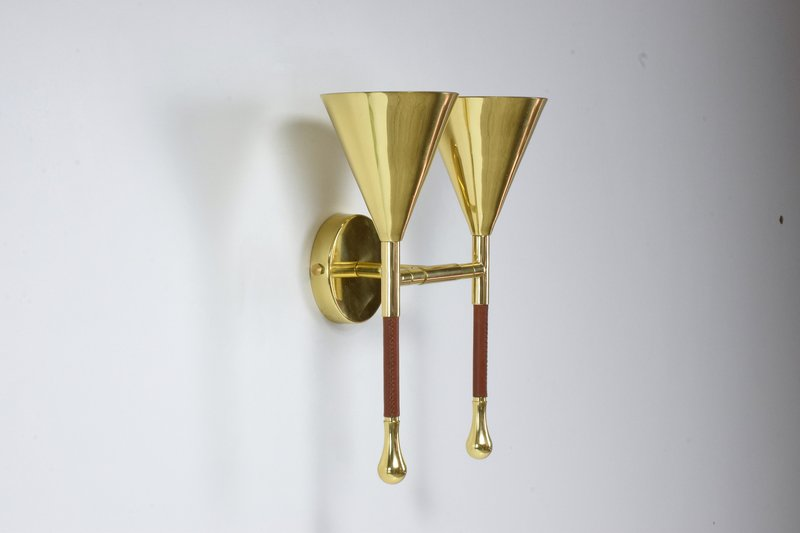 Ancora iv contemporary brass wall light jonathan amar studio treniq 1 1562075982675