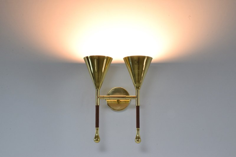 Ancora iv contemporary brass wall light jonathan amar studio treniq 1 1562075997605