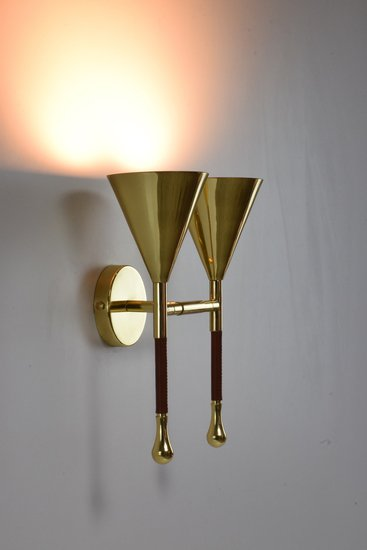 Ancora iv contemporary brass wall light jonathan amar studio treniq 1 1562075995690