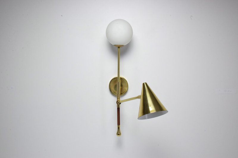 Ancora ix contemporary brass wall light jonathan amar studio treniq 1 1562084501849