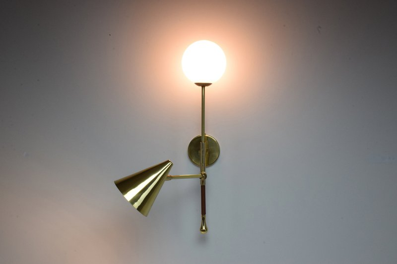 Ancora ix contemporary brass wall light jonathan amar studio treniq 1 1562084501851