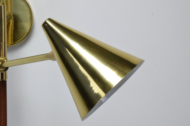 Ancora ix contemporary brass wall light jonathan amar studio treniq 1 1562084501854