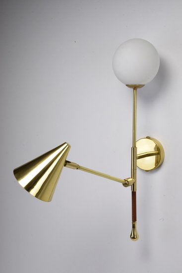 Ancora ix contemporary brass wall light jonathan amar studio treniq 1 1562084501857