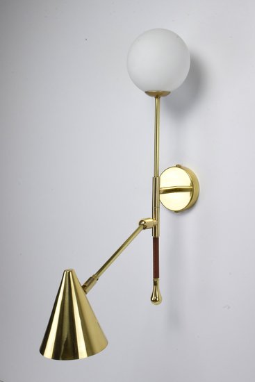 Ancora ix contemporary brass wall light jonathan amar studio treniq 1 1562084512244