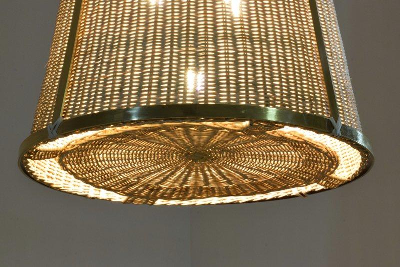 Caeli i mii contemporary monumental rattan pendant light  flow collection jonathan amar studio treniq 1 1562085270247