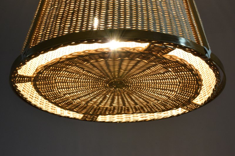 Caeli i mii contemporary monumental rattan pendant light  flow collection jonathan amar studio treniq 1 1562085293703