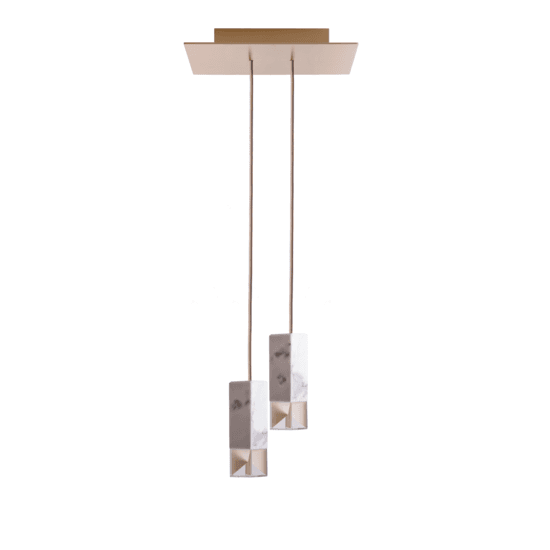 Lamp one marble duetto chandelier hires
