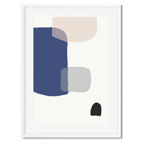 Abstract blue shapes   wall art print abstract house treniq 1 1563444986515