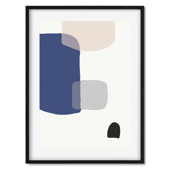 Abstract blue shapes   wall art print abstract house treniq 1 1563444986514