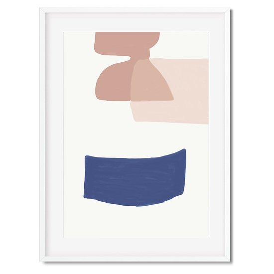 Abstract blue shapes 2   wall art print abstract house treniq 1 1563445264133