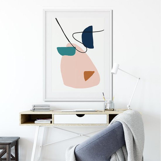 Abstract shapes and colours   wall art print  abstract house treniq 1 1563445783900