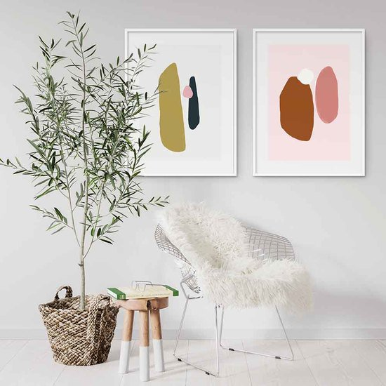 Abstract shapes art print set of 2 abstract house treniq 1 1563446244541