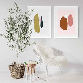 Abstract-Shapes-Art-Print-Set-Of-2_Abstract-House_Treniq_0