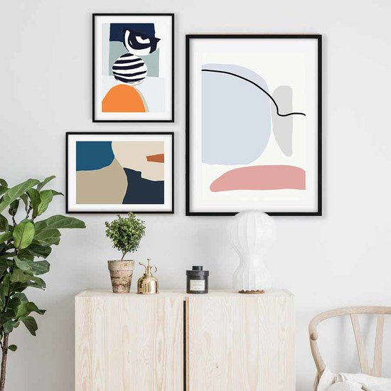 Abstract shapes gallery wall art abstract house treniq 1 1563446706630
